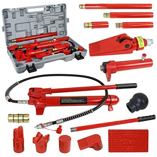 SUPER DEAL Red Porta Power Hydraulic Jack Body 10 Ton Frame Repair Kit Auto Shop Tool (10 Long Jack Frame Ton)