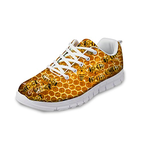 Creative Bee Print Women's Casual Sneakers Fashion Lightweight Running Shoes by Micandle