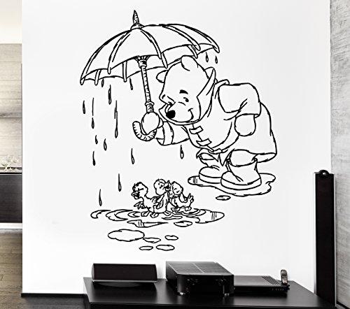 Wall Stickers Vinyl Decal Nursery Winnie The Pooh Kids Children ig1054 ()