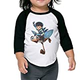 Miles From Tomorrowland Sports 3/4 Sleeve Cotton Baseball Tee Shirts For Kids Unisex Black