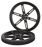 80 x 10mm Black Robot Wheels