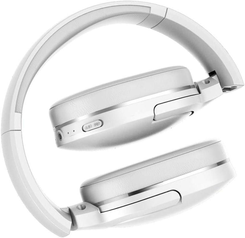 ZLAHY smart watch Bluetooth Hoofdtelefoon Opvouwbare bluetooth headset Draadloze hoofdtelefoon Draagbare Bluetooth Oortelefoon met Microfoon voor Telefoon Kleur: wit