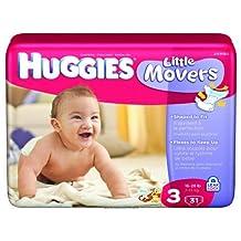 Huggies Supreme Little Movers Diapers, Huggies Supreme Jumbo Step 3, (1 CASE, 124 EACH) by KIMBERLY CLARK