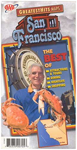 GreatestHits Maps - San Francisco - The Best of Attractions, Tours, Dining, Nightlife, Shopping, Walking, Cable Cars, Warf, Haight Ashbury, etc.