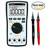 Digital Multimeter, SURPEER True RMS 4 1/2 Voltmeter with Auto Range - Multi Meter Measuring DC AC Voltage/Current, Ohm/Resistance, Diode, Temperature, Continuity, Frequency, Electric Field Testing