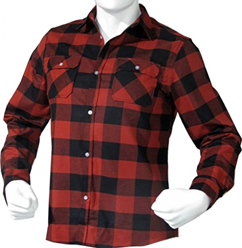 Shirt Brawny Flannel - Mafoose Brawny Flannel Shirt Dark Red/Black XL