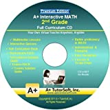 Software : 2nd Grade Math Full Curriculum SW CD Premium Edition (Windows PC - Video Lessons, Interactive Review, Worksheets, Tests, Grading N Tracking) - Homeschooling or Classroom
