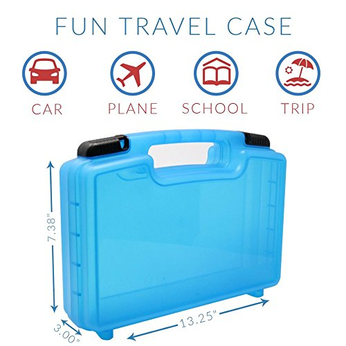 Compatible with Magformers and Magna Tiles Life Made Better Magnetic Carrying Case Playset Organizer Blue