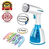 Madoats Handheld Clothes Steamer Portable Garment Steamer 280ml Fabric Steamer Any Angle Use Fast Heat Up Wrinkle Remover,Clean and Sterilize with 5pcs Clothes Folding Hanger