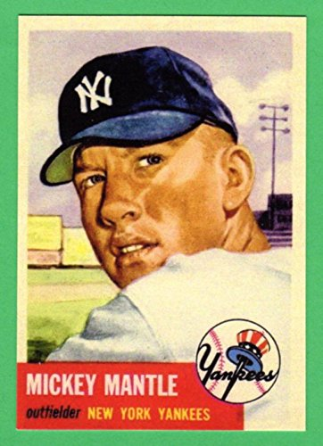 Mickey Mantle 1953 Topps Baseball Reprint Card -