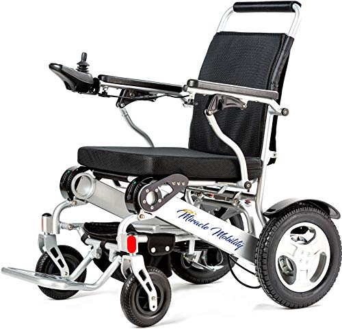 - Miracle Mobility Freedom Series Gold XL Electric Folding Mobility Wheelchair with Two 250W Motors and Two 24V, 144Wh Lithium Ion Batteries, Silver