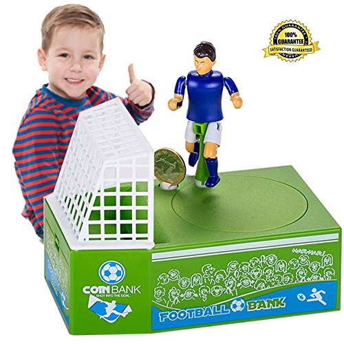 Price comparison product image Cestlafit Cute Soccer Shooting Coin Bank, Coin Munching Toy Money Box, Football Player Toy Coin Bank, Money Saving Box, Money Bank For Kids