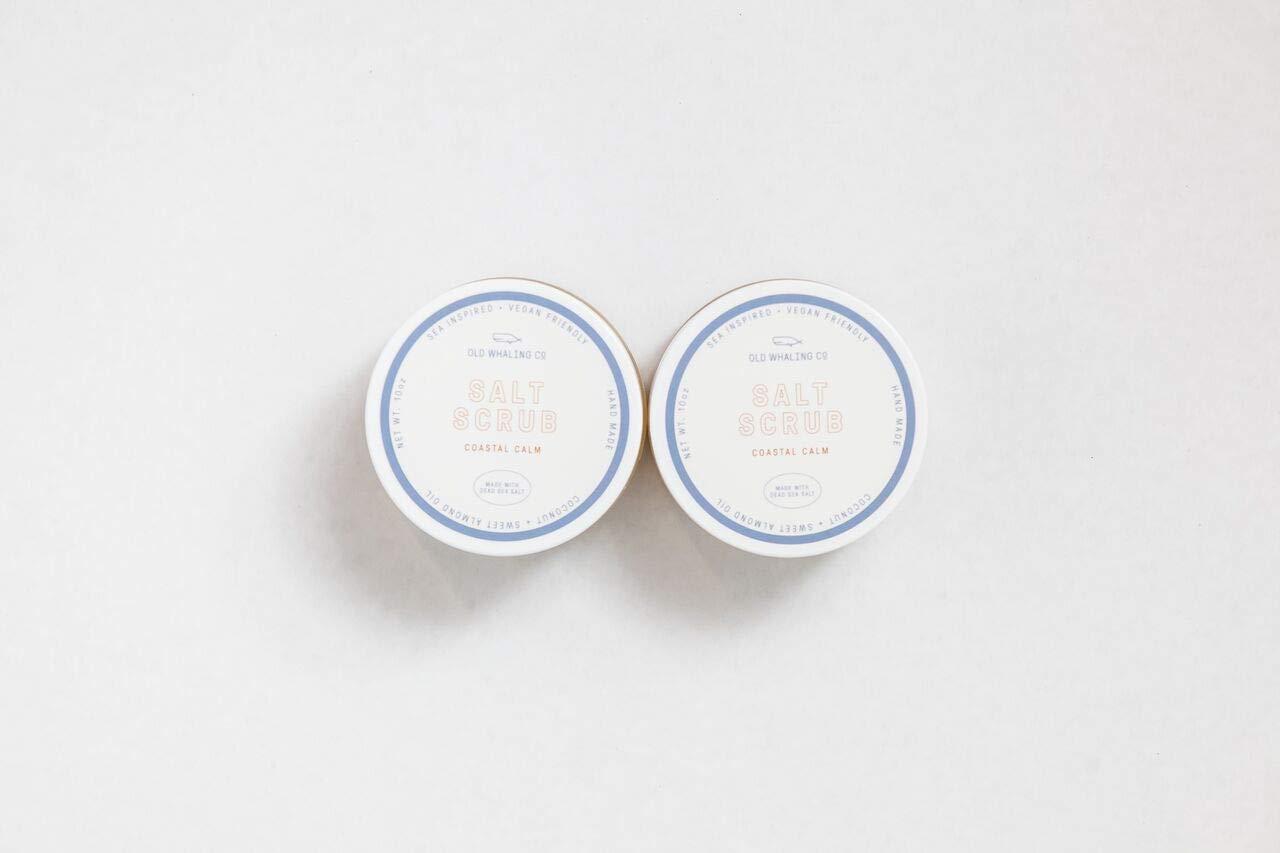 TWO Coastal Calm Salt Scrub || handmade salt scrub/dead sea salt/sweet almond oil/exfoliating / moisturizing/Charleston / relaxing