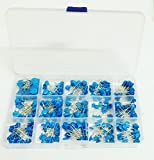 Ltvystore Blue 300PCS 15 Value (Each of 20PCS) High Voltage Ceramic Capacitor Assortment Set Kit with Clear Plastic Box