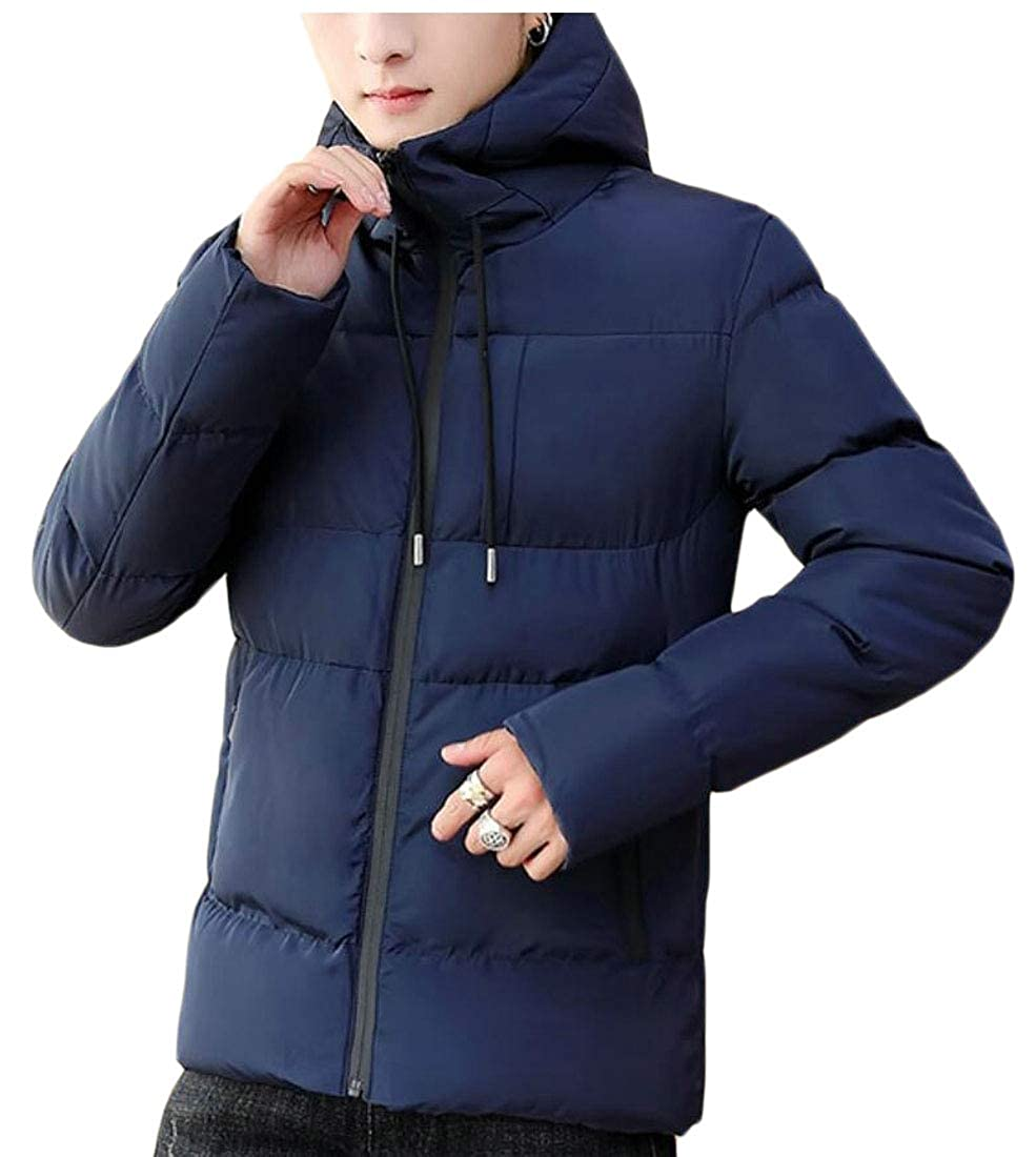 Generic Mens Thicken Coat Hoodied Warm Puffer Parka Padded Jacket