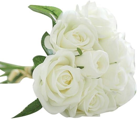 10 x Orchidées Fleur Blanc//Vert fleurs de têtes 13 cm Art Fleurs
