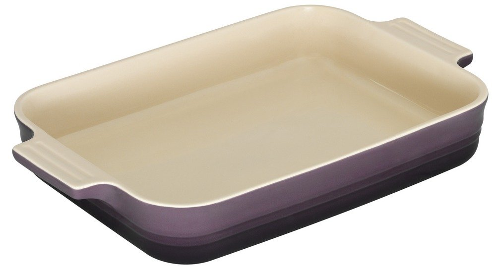 Le Creuset - Fuente rectangular de gres, 26 cm, color cassis: Amazon.es: Hogar
