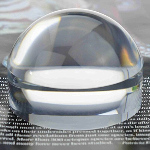 Oande 3.9 Inch Paperweight Magnifier Mirror Crystal Clear Dome Magnifying Glass for Map Magnifying and Reading Aid from OANDE