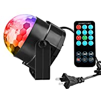 Disco Ball Party Lights Vnina 3 W 7 Colors Mini Magic Stage Lighting Effects DJ Light Strobe LED Bulbs with Remote for Kids Toys Birthday Gifts Karaoke Club Bar Wedding Holiday Dance Night House Lamps