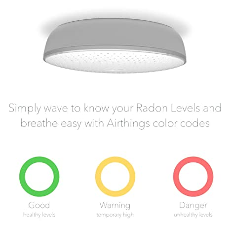 Airthings Wave 2nd Generation Smart Radon Detector With Free App Battery Operated No Lab Fees Easy To Use Elektronik