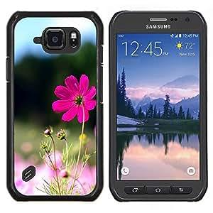 LECELL--Funda protectora / Cubierta / Piel For Samsung Galaxy S6Active Active G890A -- Purple Flower Valley --