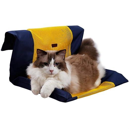 Unlxn Cama para Gatos Ventana Extraíble Nido Radiador para Gatos Kitty para Mascotas Salón Colgante Cama Acogedor Soporte para Hamaca para Gatos Asiento para Mascotas 50 * 72 Cm Amarillo: Amazon.es: Productos