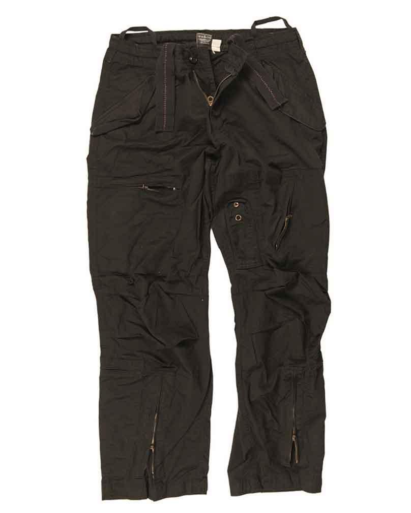 Mil-Tec Fliegerhose Cotton Vintage schwarz