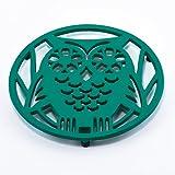 Old Dutch Wise Owl Trivet, Emerald Green