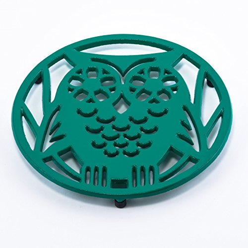 Old Dutch Wise Owl Trivet, Emerald Green