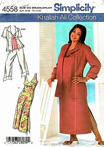 Amazon Simplicity Sewing Pattern 4558 Khaliah Ali Womens