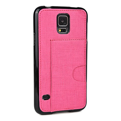 - Kroo Cell Phone Case with Card Holder for Samsung Galaxy S5 - Non-Retail Packaging - Magenta