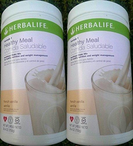 2 HERBALIFE FORMULA 1 NUTRITIONAL SHAKE FRENCH VANILLA MIX S
