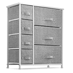 Bedroom 7 Drawers Dresser – Furniture Storage Tower Unit for Bedroom, Hallway, Closet, Office Organization – Steel Frame, Wood… modern dressers