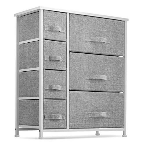 Bedroom 7 Drawers Dresser – Furniture Storage Tower Unit for Bedroom, Hallway, Closet, Office Organization – Steel Frame, Wood… modern dressers