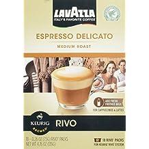 Lavazza Espresso Delicato Medium Roast for Keurig Rivo System 18-0.26 0z (2 pack) by Lavazza