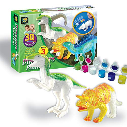 [해외]AMAV Toys 3D 페인팅-다이노사우루스 아트-크래프트 / AMAV Toys 3D Painting-Dinosaurs Arts & Crafts for Kids Age 4+. 6 Colors to Paint with for Dinosaur Lovers & A Perfect Artistic Activity. Ideal Gift