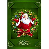 Decorative Garden Flag Santa Claus for Winter Christmas Holiday Double Sided 12.5'' X 18''