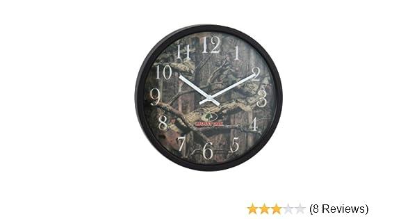 "NEW Camo Camouflage MOSSY OAK 12/"" Wall Clock DEER HUNTING Metal /& Glass"