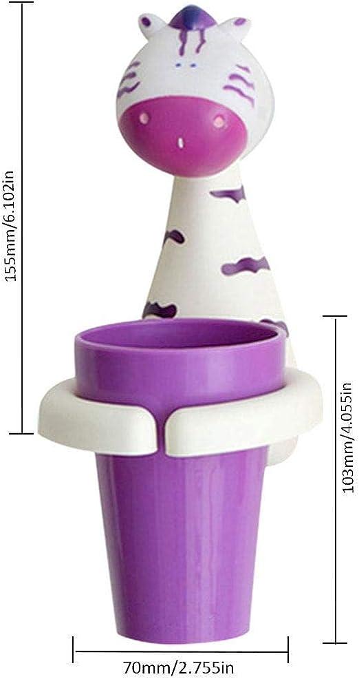 Porta spazzolino da Denti a Forme di Carino Animali per Bambini,6 Animali Simpatico Cartone Animato Bambino Presa spazzolino YIQI 6 PCS Portaspazzolino a Parete con Ventosa