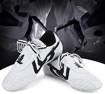 Kung Fu Chaussures de Formation darts Martiaux denfants dadolescent Chaussures de Sport de Boxe de karat/é pour Le Taekwondo Taichi Boxe Chaussures darts Martiaux Chaussures de Taekwondo