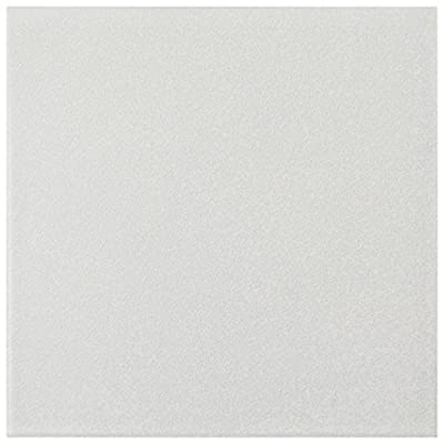 """SomerTile FRC8TWEW Fifties Ceramic Floor and Wall, 7.75"""" x 7.75"""", White Tile, 25 Piece"""