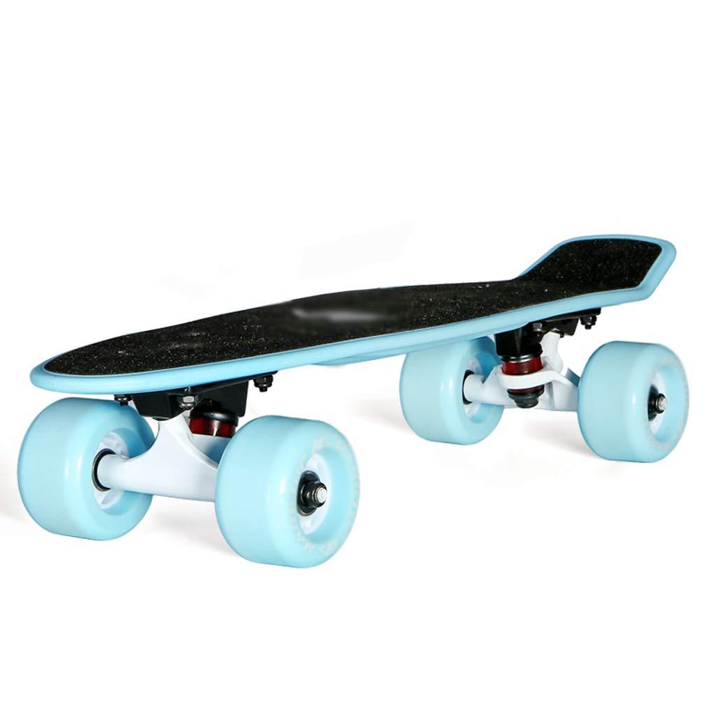 TLMYDD スクーター初心者の十代のカエデの葉のスケートボードの子供の大人の四輪スクーター スケートボード (Color : H) H