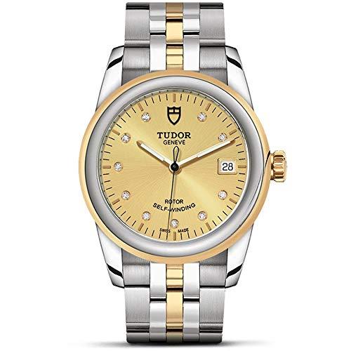 Tudor Women's Diamond 36mm Two Tone Steel Bracelet Steel Case Automatic Champagne Dial Watch M55023D-BRXX