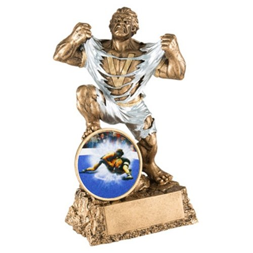 Wrestling Monster Trophy with 3 lines of custom text by TrophyPartner