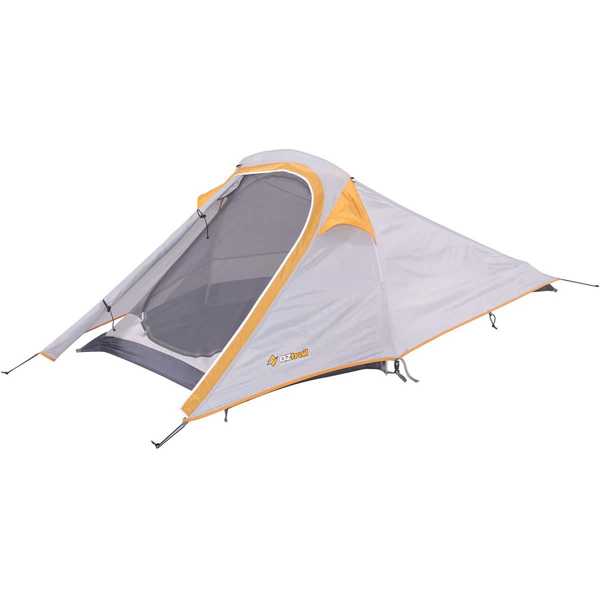 Tienda de campaña ultraligera Starlight - OLT-STA-D - Tienda de campaña para 2 personas, ideal para excursiones y senderismo. Ultraligera de sólo 1.6kg de peso, y con un sistema de varillas horizontales que la hace muy fácil de montar. 230x120cm con vestíb