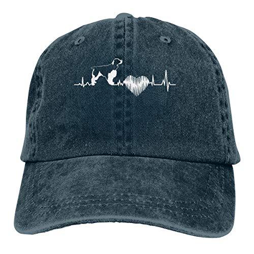 Unisex Baseball Cap English Springer Spaniel Washed Denim Dad Hat for Men