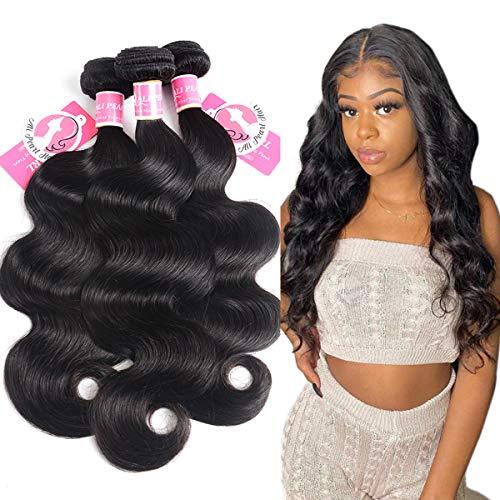 Alipearl Hair Brazilian Body Wave Virgin Human Hair 3 Bundles Unprocessed Body Wave Hair 3 Bundles Hair Extentions Wholesale Hair Deal Ali Pearl Hair(16 18 20)
