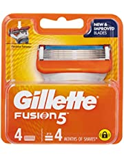 Gillette Fusion Manual Mens Shaving Razor Blade Refill 4 Pack