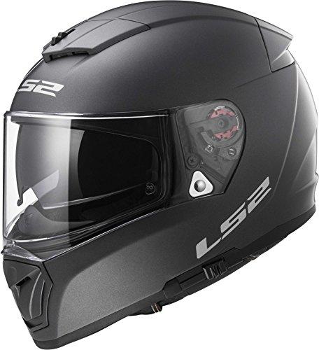 LS2 Helmets Unisex-Adult Full Face Helmet (Matte Titanium, Medium) (Breaker Titanium)