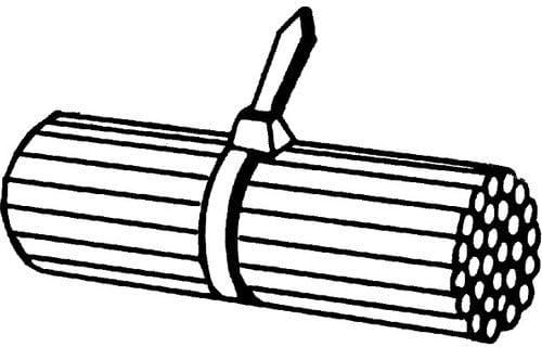 100x HELLA Original Kabelbinder 8HL 717 962-041